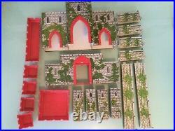 Vintage 1956 Marx Robin Hood Sherwood Forest Medieval Castle Playset 62pcs