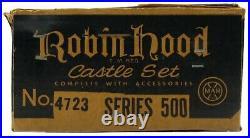 Vintage 1956 Marx Robin Hood Sherwood Forest Medieval Castle Playset withBox EX