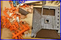 Vintage 1957 Marx Fort Apache Stockade Western Playset with Original Box & Cannon