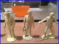Vintage 1958 MARX Zorro Fort Play Set 5 Rare Figure And Accessories