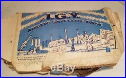 Vintage 1958 Marx I. G. Y. Arctic Satellite Base Playset 1958-59 Htf Rare