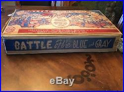 Vintage 1959 Marx Battle Of The Blue And Gray Play Set. Pre-Owned