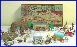 Vintage 1960 Marx Johnny Ringo Playset Frontier Mining Town TV Western Toy Rare