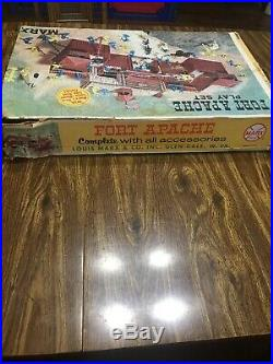 Vintage 1960's MARX Fort Apache Play Set 3681 With Original Box