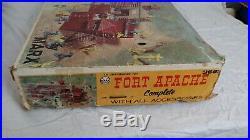 Vintage 1960's MARX Fort Apache Play Set 3681 With Original Box 1