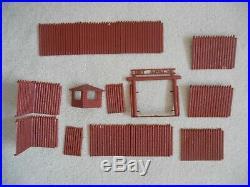 Vintage 1960's MARX Fort Apache Play Set Original Box Near Complete