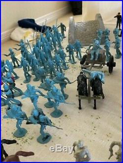 Vintage 1960's Marx Civil War Toy Soldiers Playset