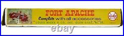 Vintage 1960's Marx Fort Apache US Cavalry Supply Building Indian Playset withBox