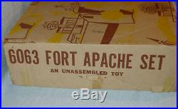 Vintage 1960's Marx Playset GIANT FORT APACHE #6063, Sears Issue, Play Set BOX