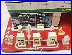 Vintage 1960's Marx Sears Allstate Gas Service Station Tin Midtown