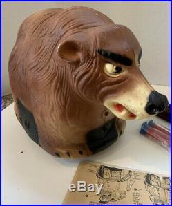 Vintage 1960s BOP A BEAR BY MARX BATTERY POWERED BEAR