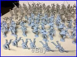 Vintage 1960s MARX Giant BLUE & GRAY Battle Play Set