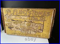 Vintage 1960s Marx Flintstones Bedrock Play Set