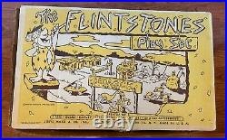 Vintage 1960s Marx Flintstones Bedrock Play Set 4672 Near Comp with Piece Bags