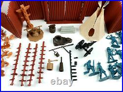 Vintage 1960s Marx Toys Fort Apache P1570 / 3681 Playset w Accessories & Box