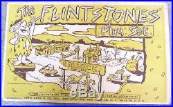 Vintage 1961 Marx The Flintstones Bedrock City Village Play Set withBox RARE