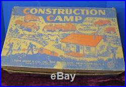 Vintage 1962 Marx Construction Camp Play Set