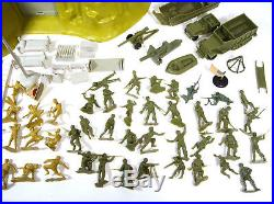 Vintage 1963 Marx Iwo Jima Mountain Playset With Cereal Box Playset Extras WW2