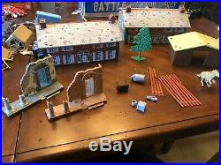 Vintage 1963 Marx Sears Battle Of The Blue And Gray Play Set