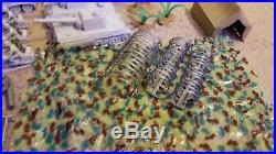 Vintage 1963 Marx WW 2 Desert Fox Toy Soldier Army Tanks Military Tanks BOX