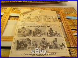 Vintage 1966 Johnny West Circle X Ranch By Marx #5275 Cardboard Play Set t3820