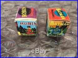 Vintage 1966 Marx Batman & Robin ROLYKINS COMPLETE IN BOX SCARCE LOOK