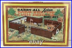 Vintage 1968 Marx Carry-All Action Fort Apache #4685 Tin Lithograph Play Set
