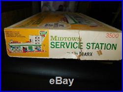 Vintage 1970s Marx Midtown Service Station #3500 Playset