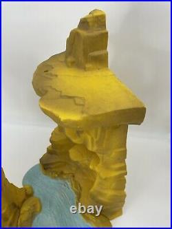 Vintage 1970s Marx Prehistoric Mountain Terrain One Million BC Dinosaur PlaySet