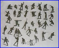 Vintage 1971 Marx Battleground Playset with Accessories, US & German Soldiers, 4757