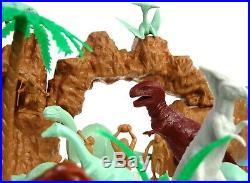 Vintage 1971 Marx Prehistoric Dinosaur Cavemen Mountain Playset NM withBox