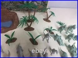 Vintage 1971 Marx Prehistoric Dinosaurs Play Set #3398 48 Pieces Total