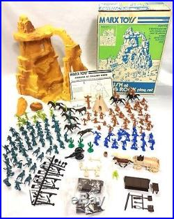 Vintage 1975 MARX Ambush At Falling Rock #3423 Play Set Complete With Extras