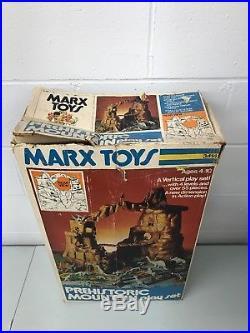 Vintage 1975 Marx Toys 3414 Prehistoric MOUNTAIN Playset See Description