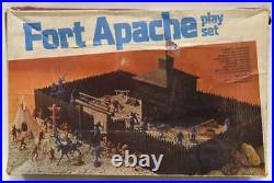Vintage 1977 Marx Fort Apache Playset # 4202 with Original Box & Rare Instructions