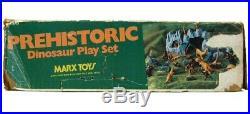 Vintage 1978 Marx Prehistoric Dinosaur Cavemen Mountain 3D Playset withBox