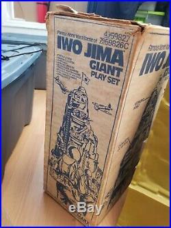 Vintage 1979 Marx Iwo Jima Giant Playset near Complete withoriginal Box and extras