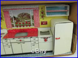Vintage 50's Louis Marx Complete Modern Kitchen Set With Original Box