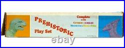Vintage 60's Marx Prehistoric Dinosaur Caveman Mountain Playset withInsert Box NM