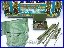 Vintage 60s Marx Stony 4-Man Combat Team GI Poseable Action Soldier Play Set