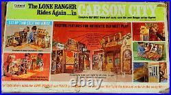 Vintage 70's Gabriel/Marx Lone Ranger CARSON CITY Action Figure/Playset 100% Com