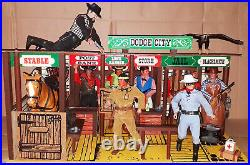 Vintage 70's Marx/Gabriel The Lone Ranger DODGE CITY Sio Action Figure/Playset