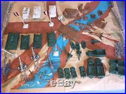 Vintage BATTLE GROUND Xtra Large WW2 Play Set MARX ORIGINAL BOX- USA & GERMANY