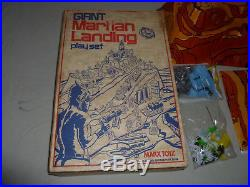 Vintage Boxed Marx Giant Martian Landing Play Set Complete Rare 1977 Alien Space
