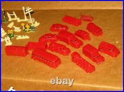Vintage LOUIS MARX Enchanted Village Toy Playset figures vehicles buildings RARE
