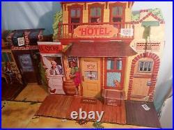 Vintage Lone Ranger CARSON CITY Old West Town PLAYSET, Marx Gabriel 25670