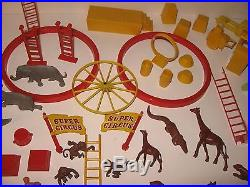 Vintage Lot of 85+ Marx Super Circus 1950's ANIMALS & PERFORMERS & Accessories