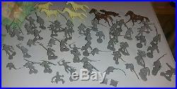 Vintage Louis Marx Battle Of The Blue And Gray Civil War Battle Playset