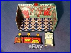 Vintage Louis Marx Home Town Grocery Store Tin Litho Playset no box 1920s