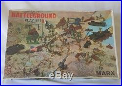 Vintage Louis Marx Toys Battleground WW II Army Playset # 4756 In Original Box